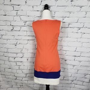 Trina Turk Dresses - Trina Turk Cheer Orange Colorblock Shift Dress